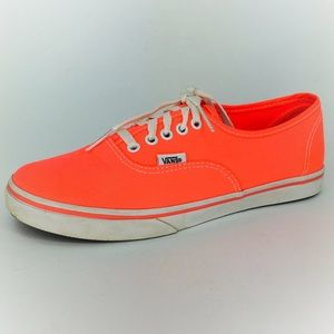 Vans Authentic Lo Pro Neon Orange Sneakers Sz 7